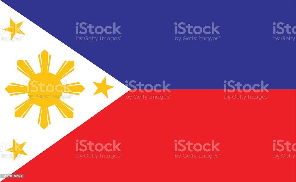 Philippines flag vector art illustration