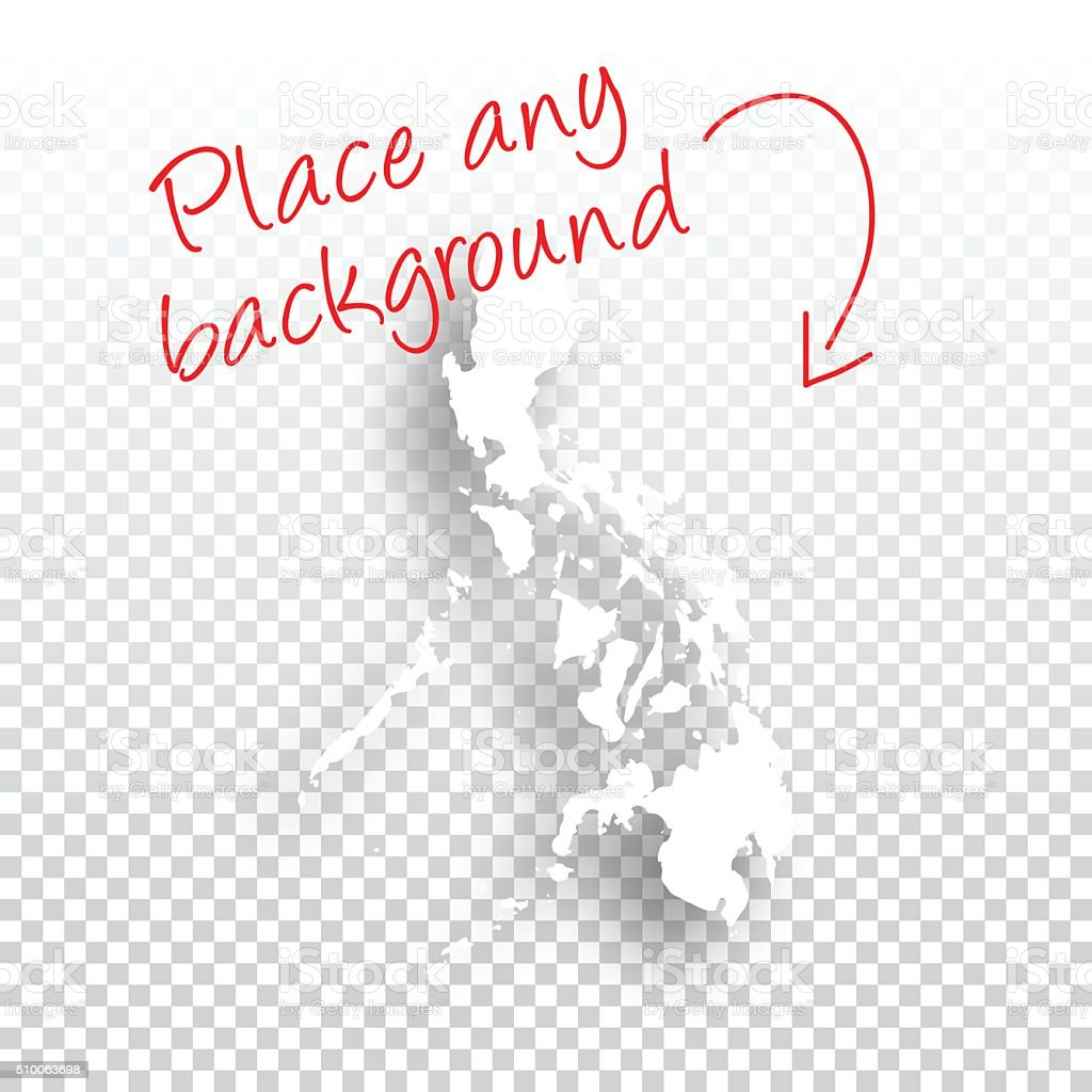 Philippines Map for design - Blank Background vector art illustration