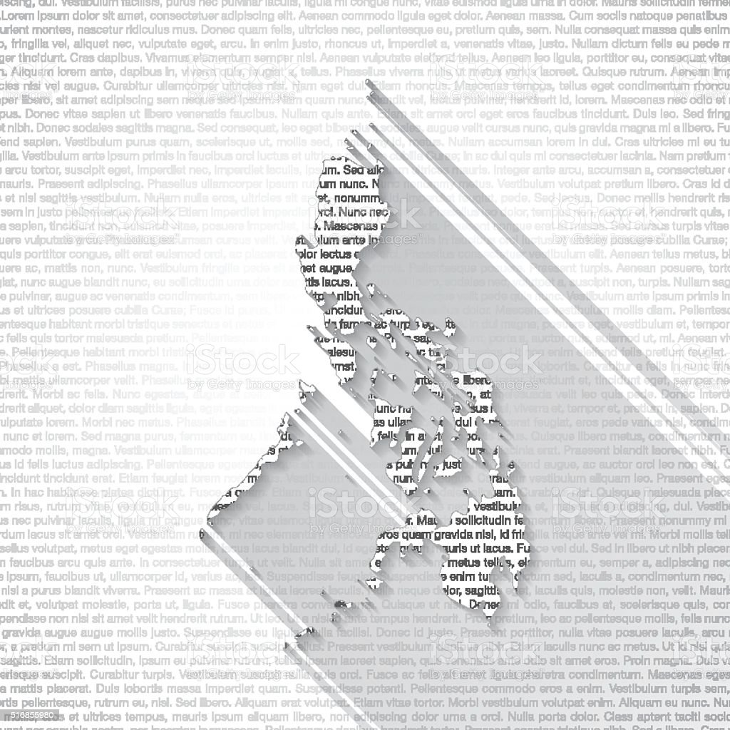 Philippines Map on Text Background - Long Shadow vector art illustration