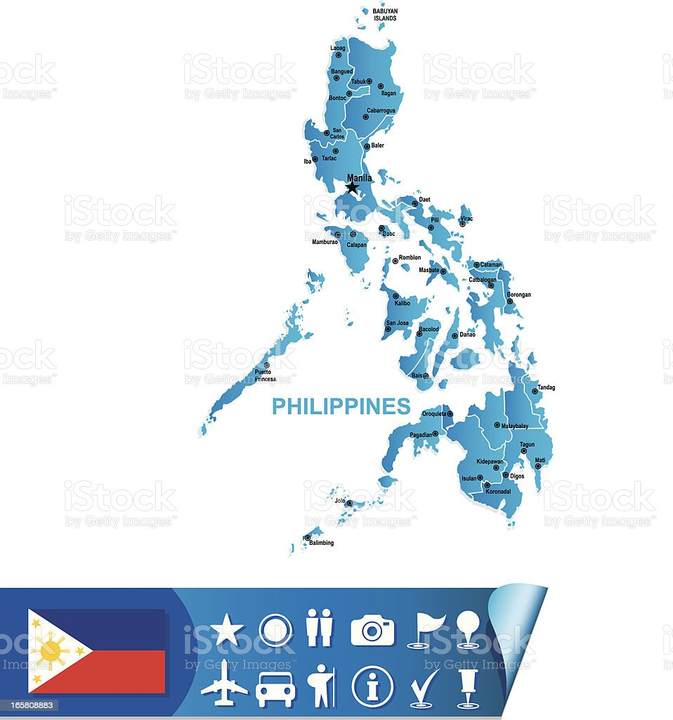 Philippines map royalty-free stock vector art