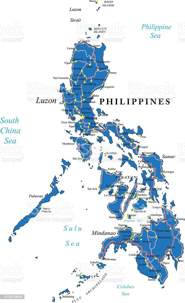 Philippines political map royalty-free stock vector art