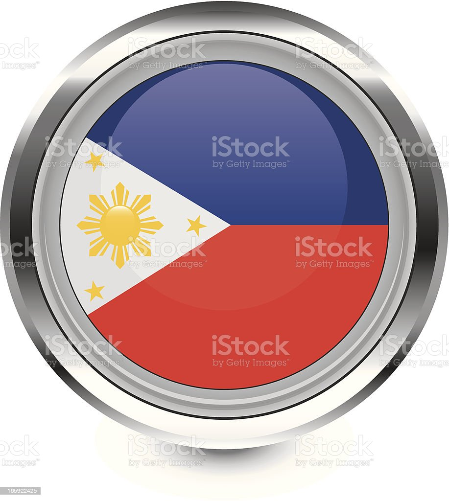 Phillipines flag icon royalty-free stock vector art