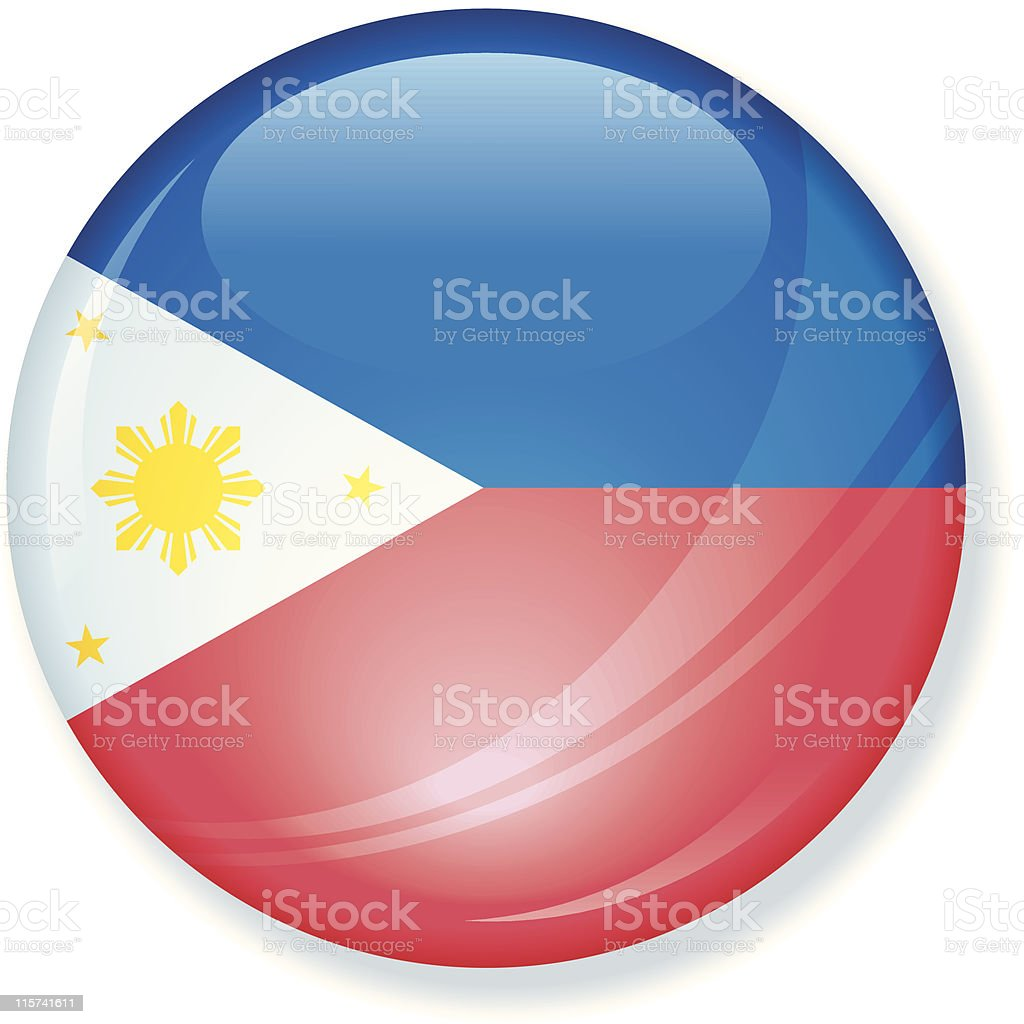 Phillipines Super Glossy Flag royalty-free stock vector art