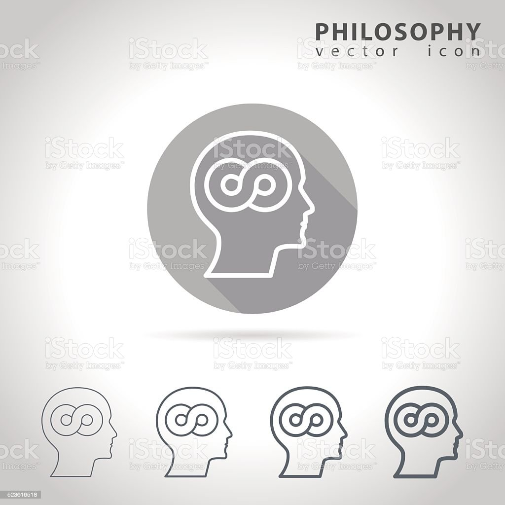 Philosophy outline icon vector art illustration