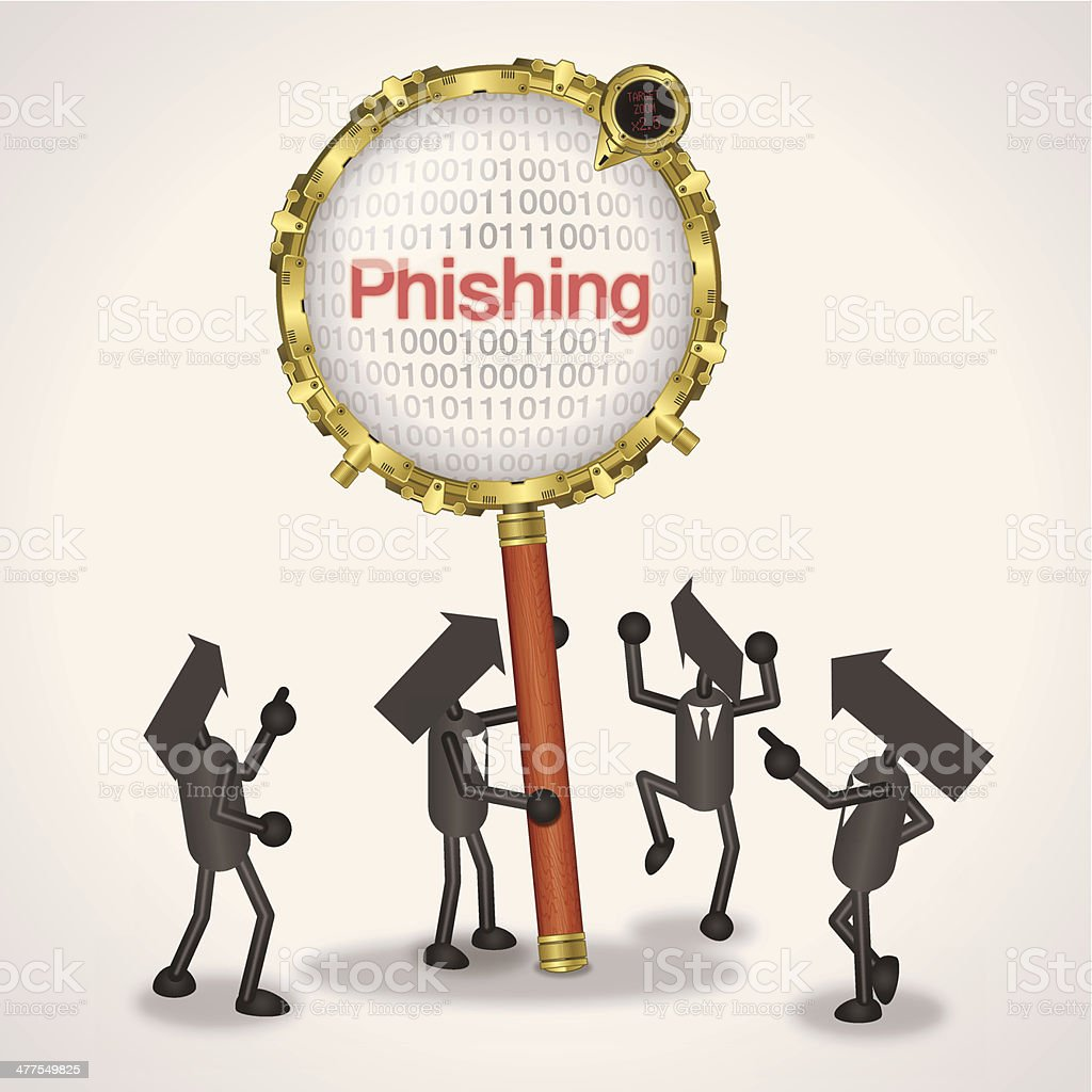 Phishing royalty-free stock vector art