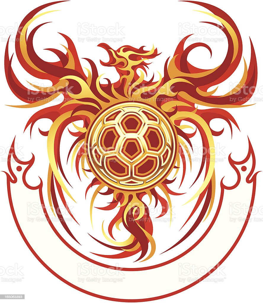 Phoenix Ball Emblem royalty-free stock vector art