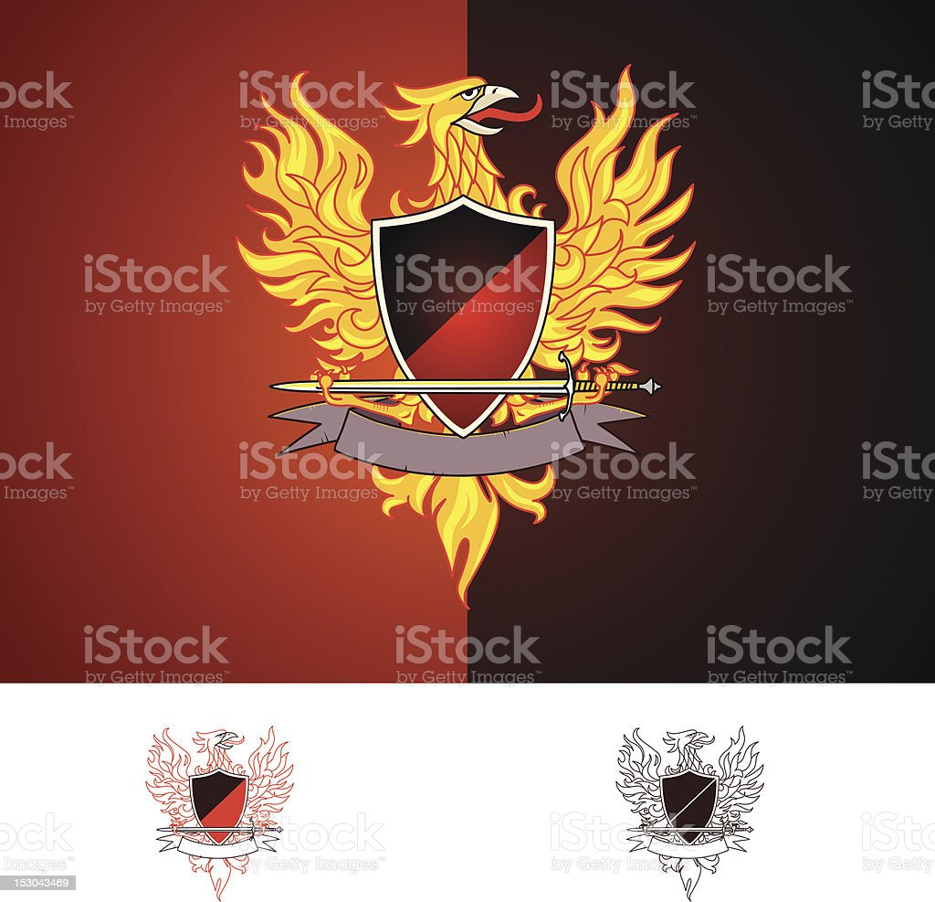 Phoenix bird vector art illustration