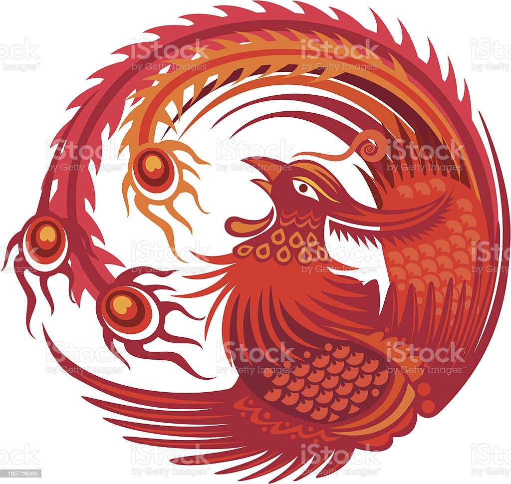 phoenix bird royalty-free stock vector art