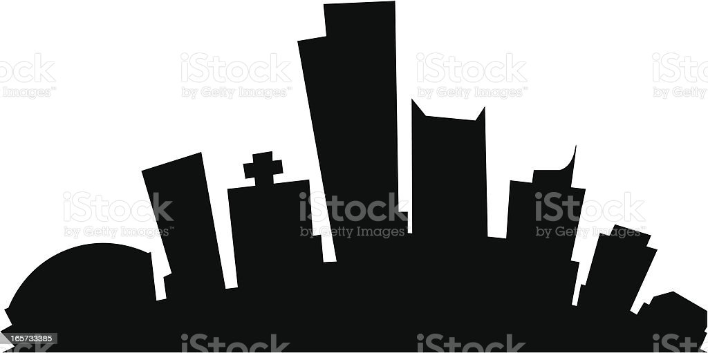 Phoenix Cartoon City royalty-free stock vector art