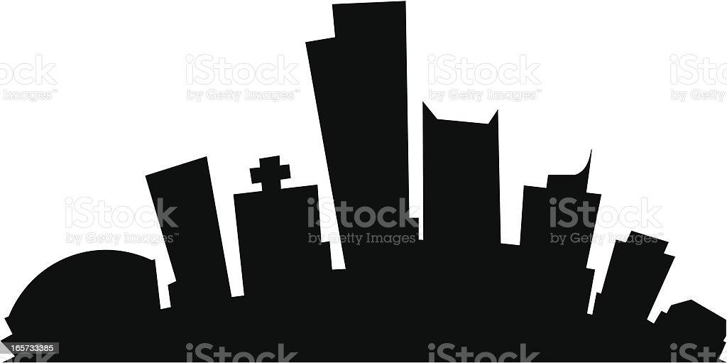 Phoenix Cartoon City vector art illustration