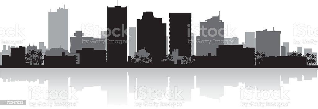 Phoenix City skyline silhouette vector art illustration