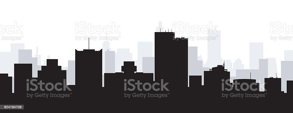 Phoenix City Skyline vector art illustration