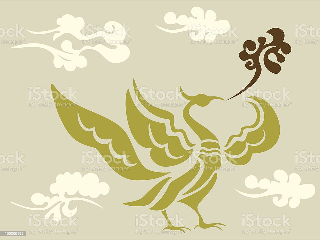 Phoenix & Cloud royalty-free stock vector art