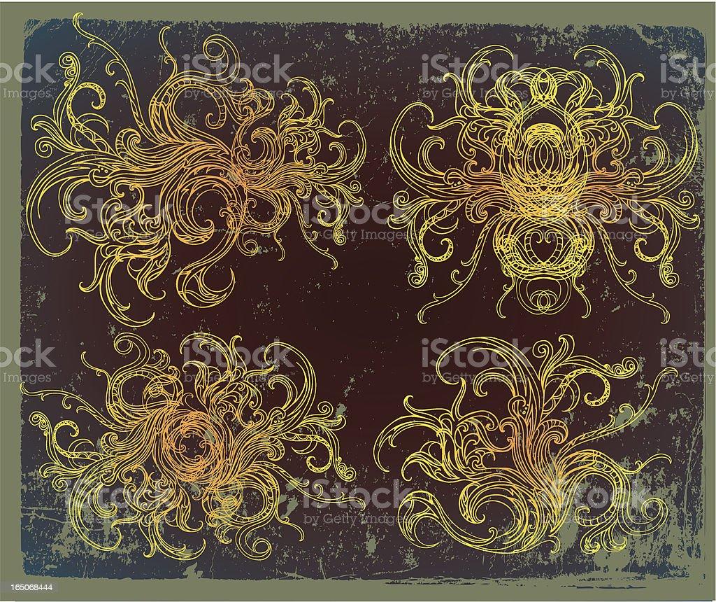 phoenix-Elemente Lizenzfreies vektor illustration