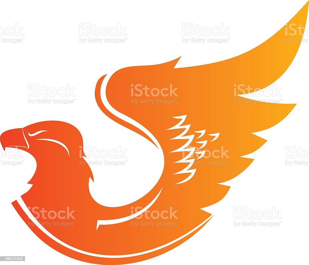 Phoenix emblem vector art illustration