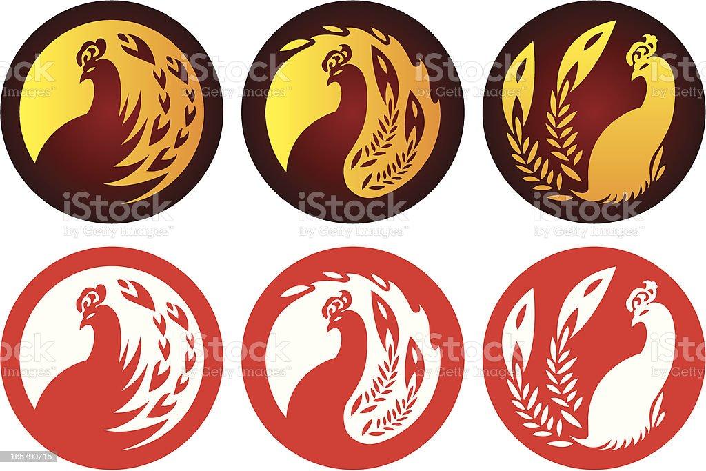 Phoenix emblems royalty-free stock vector art