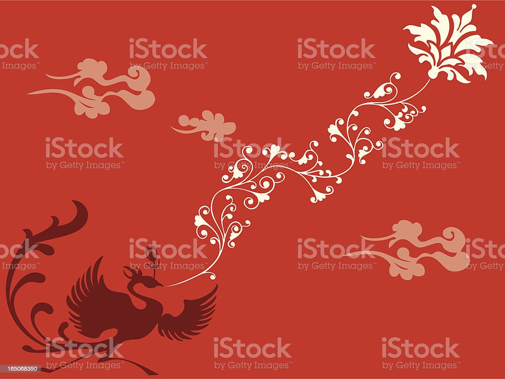 Phoenix Flora Delight royalty-free stock vector art