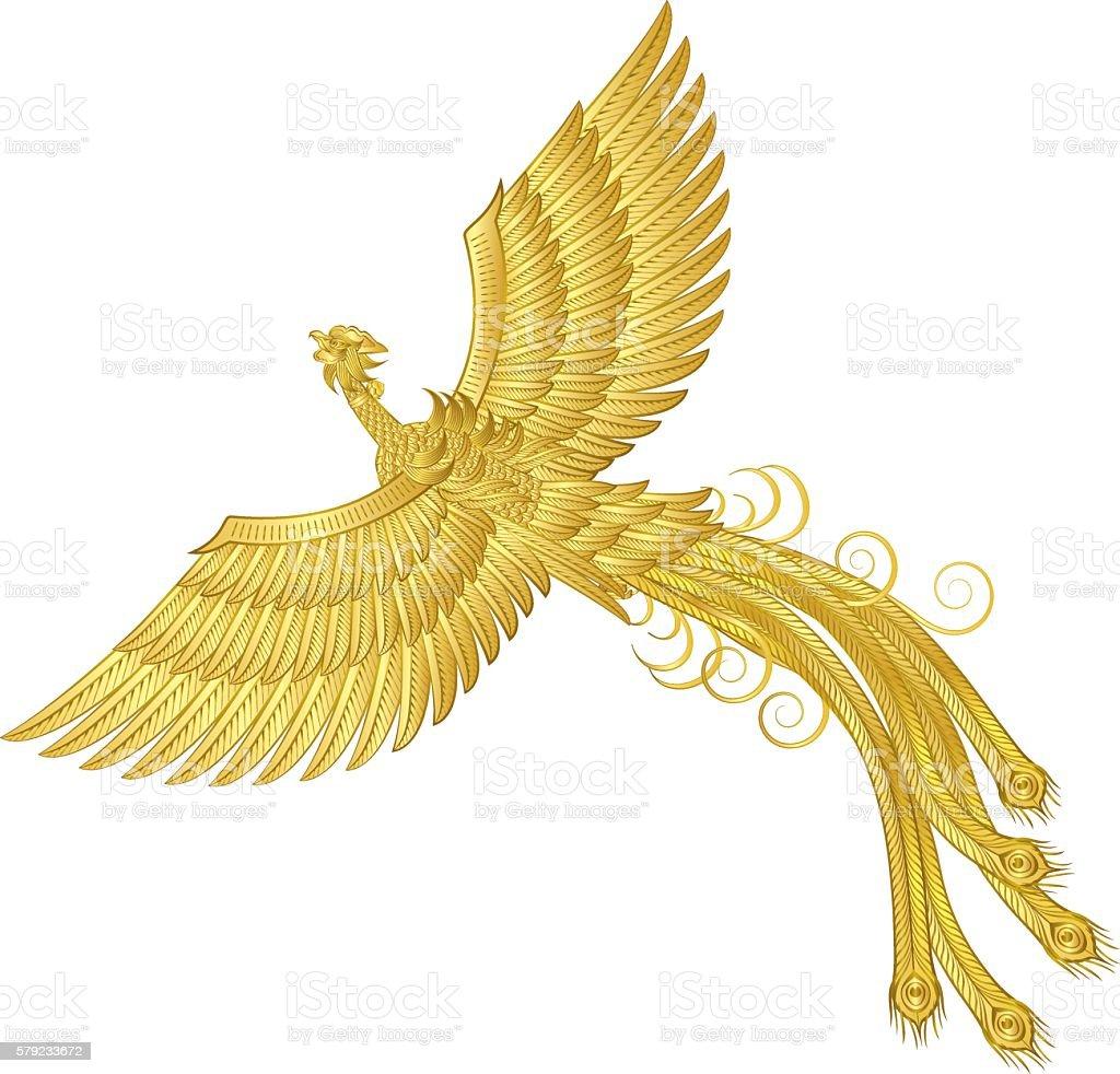 Phoenix. Phoenix. Birds on the imagination. vector art illustration