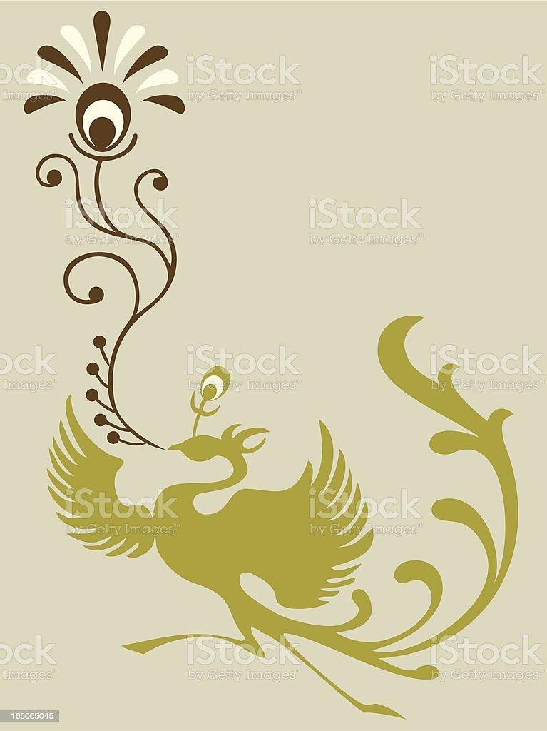 Phoenix & Plant royalty-free stock vector art
