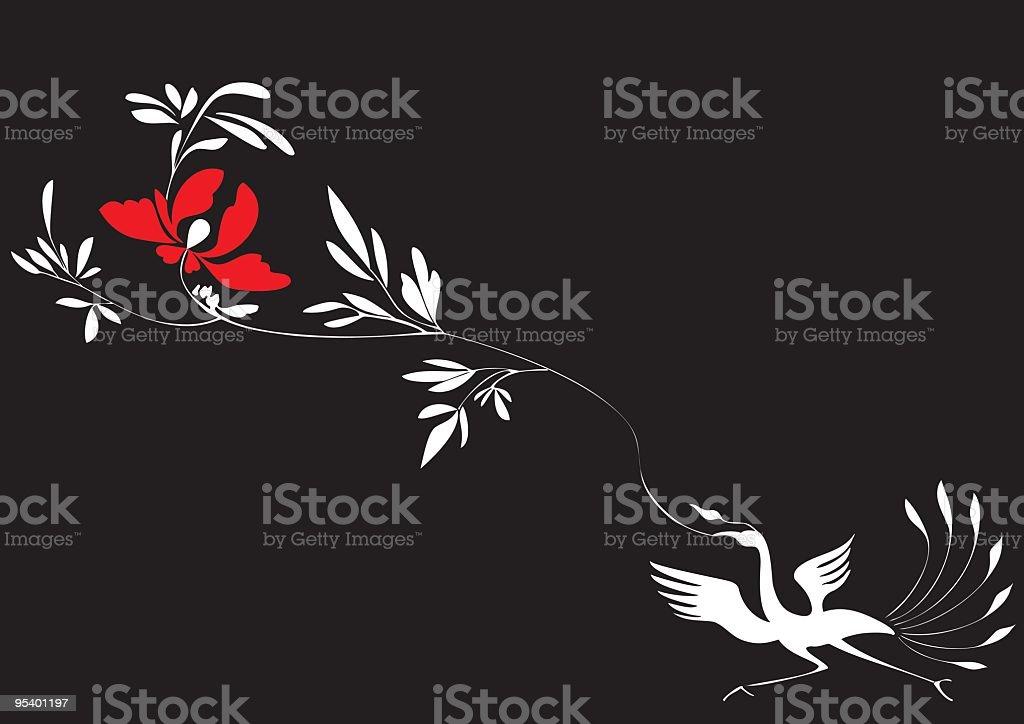 Phoenix Set 002 (Flower) royalty-free stock vector art