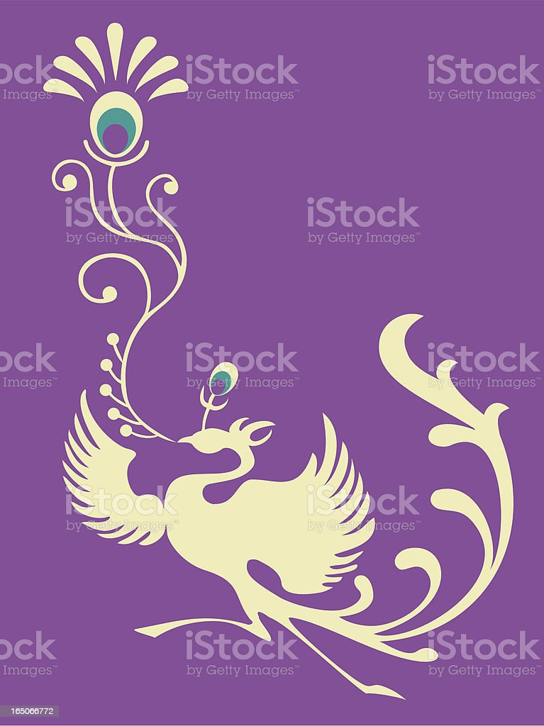 Phoenix Set 003 (Peacock Feather) royalty-free stock vector art