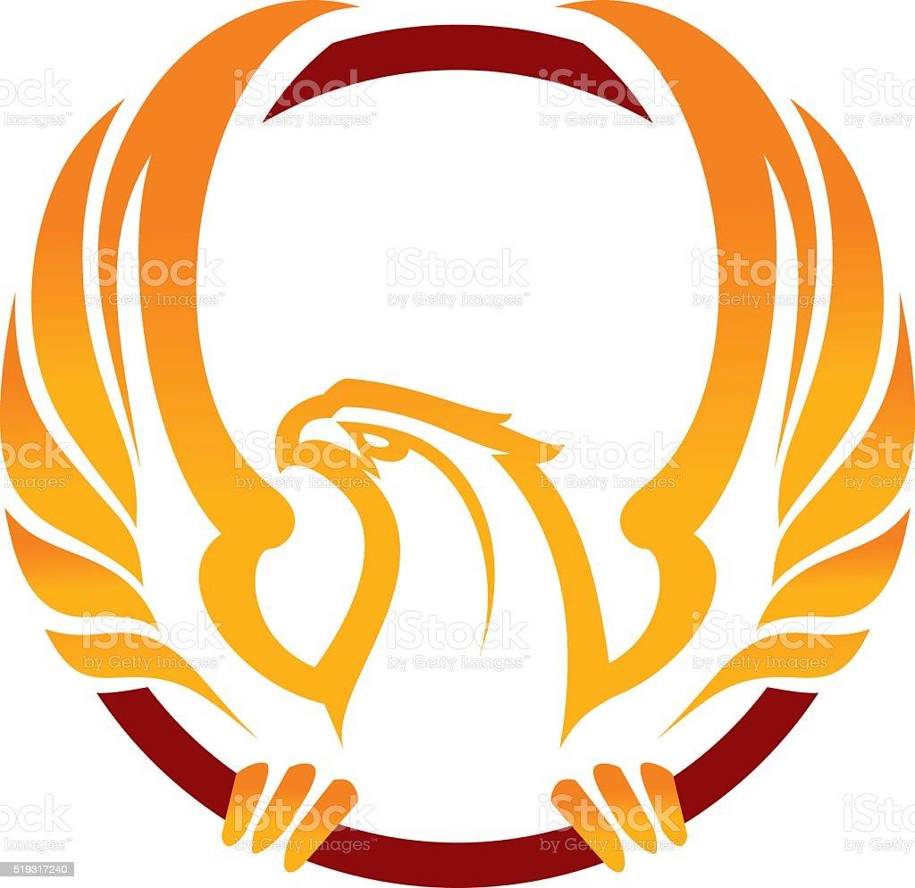 Phoenix sport mascot vector art illustration