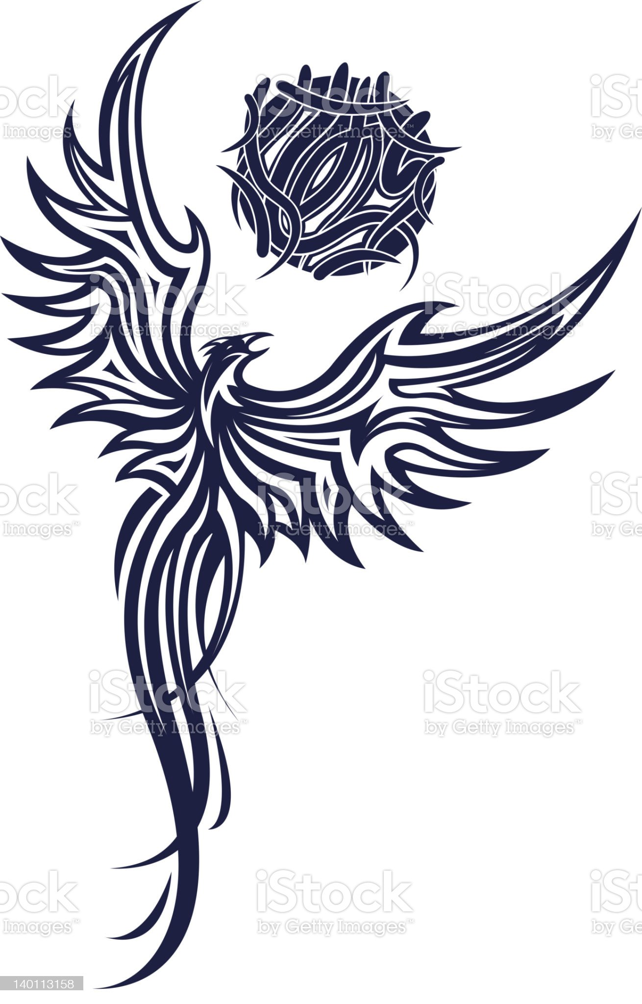 Phoenix tatoo royalty-free stock photo