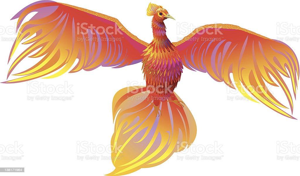 Phoenix vector art illustration