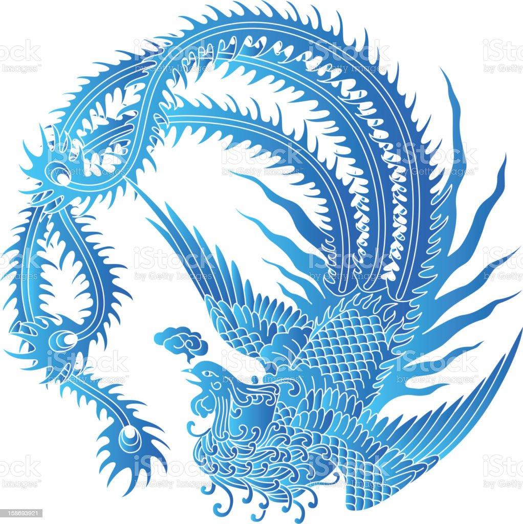 Phoenix royalty-free stock vector art