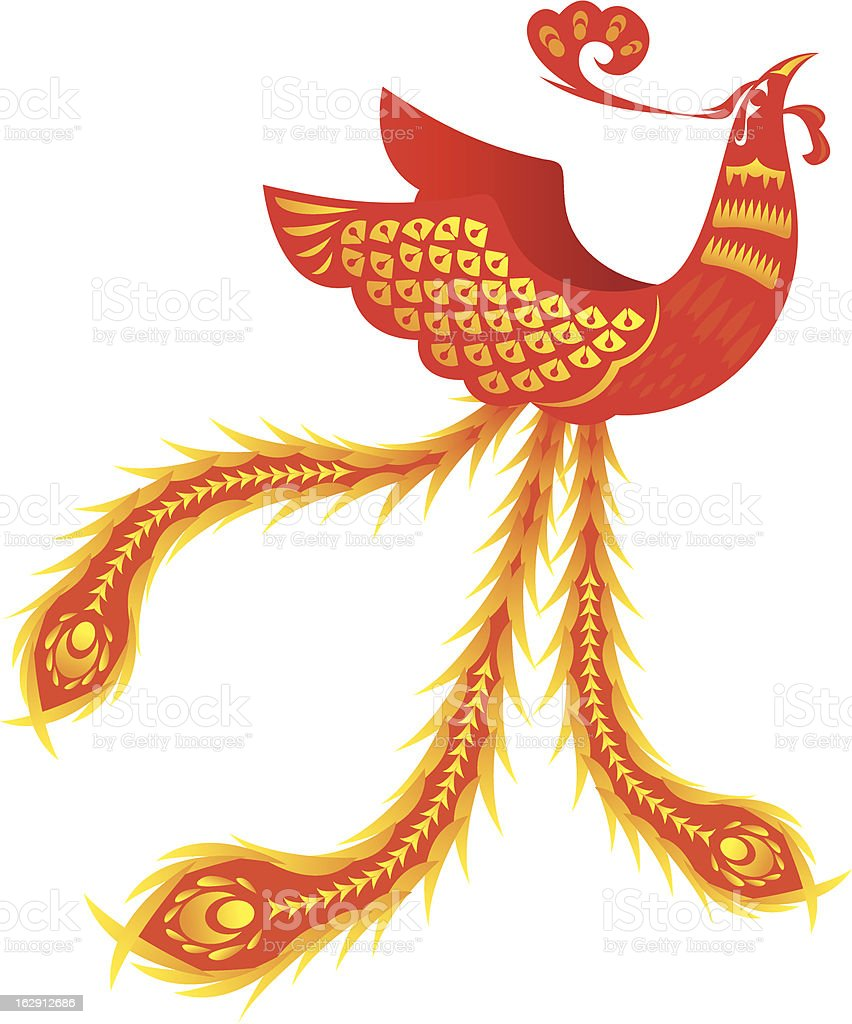 Phoenix royalty-free stock vector art