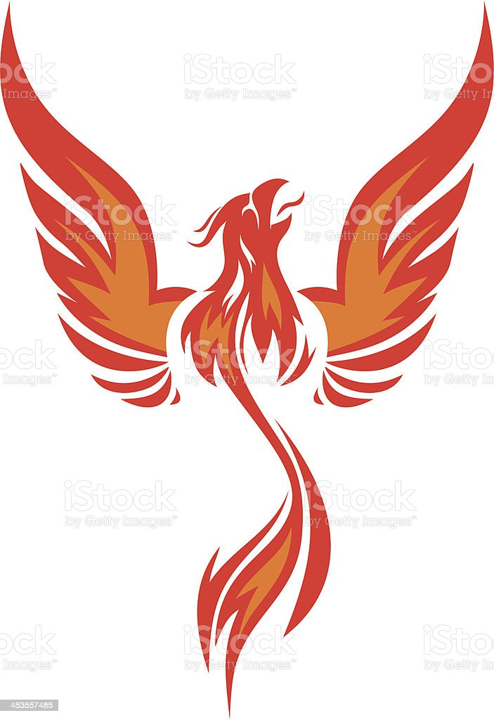 Phoenix vector royalty-free stock vector art