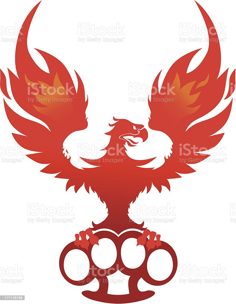 Phoenix with knuckles royalty-free stock vector art