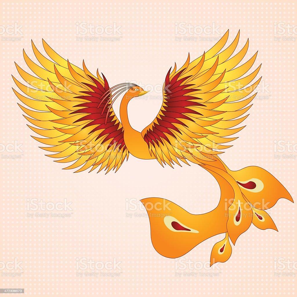 Phoenix with straighten wings. royalty-free stock vector art
