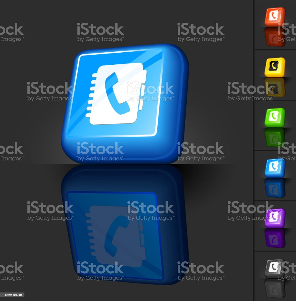 phone book 3D button design royalty-free stock vector art