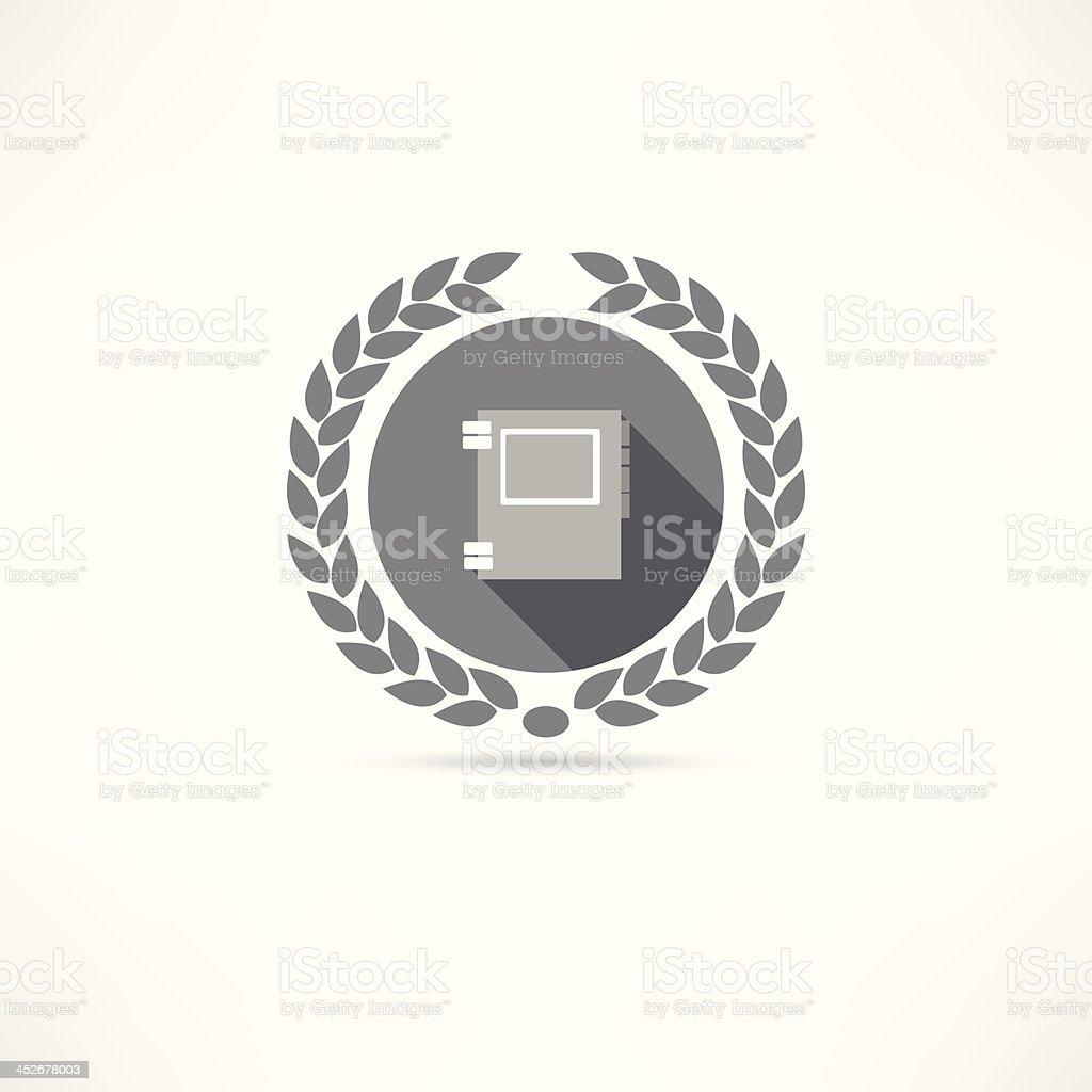 phone book icon vector art illustration