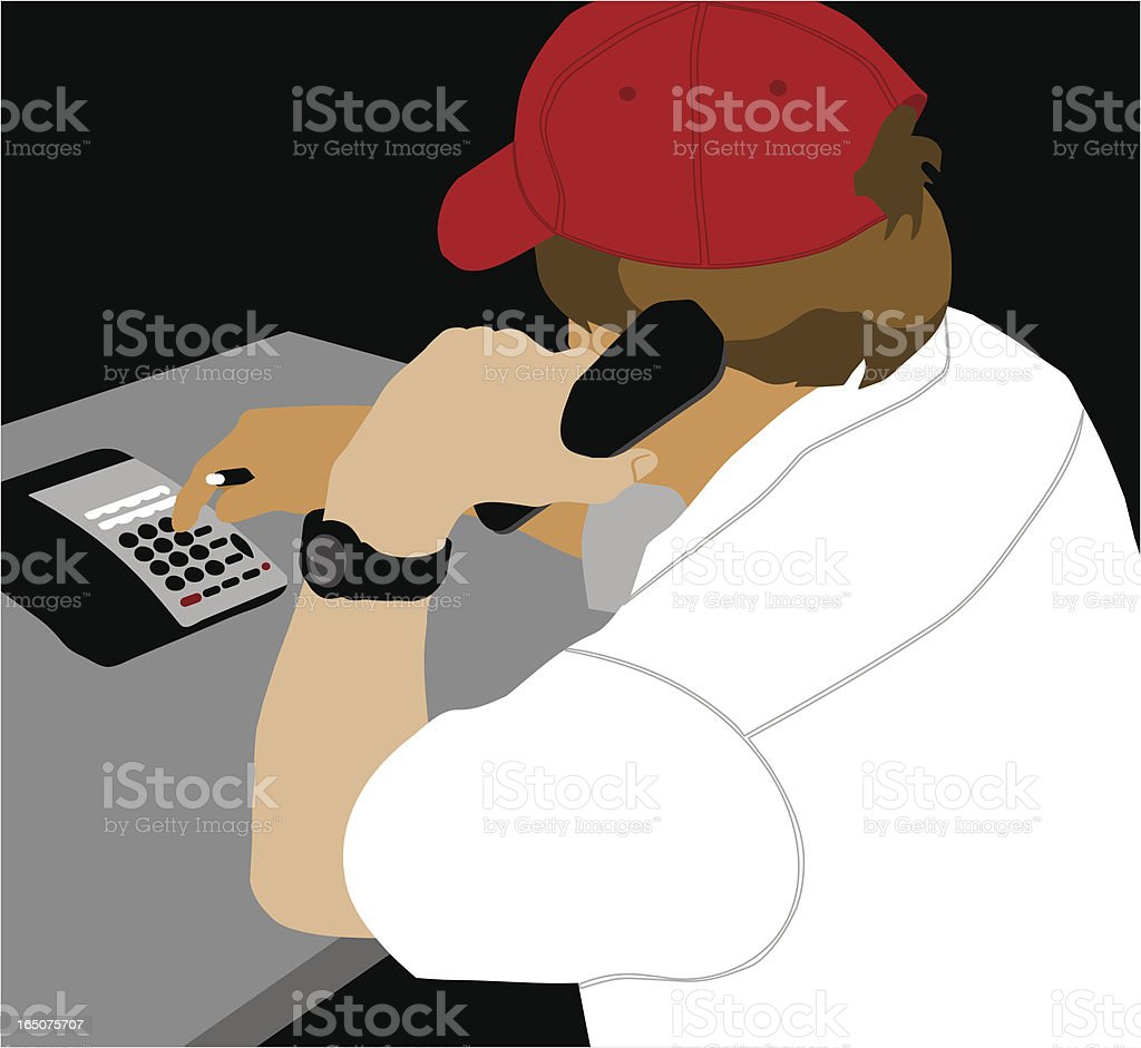 Phone Call vector art illustration