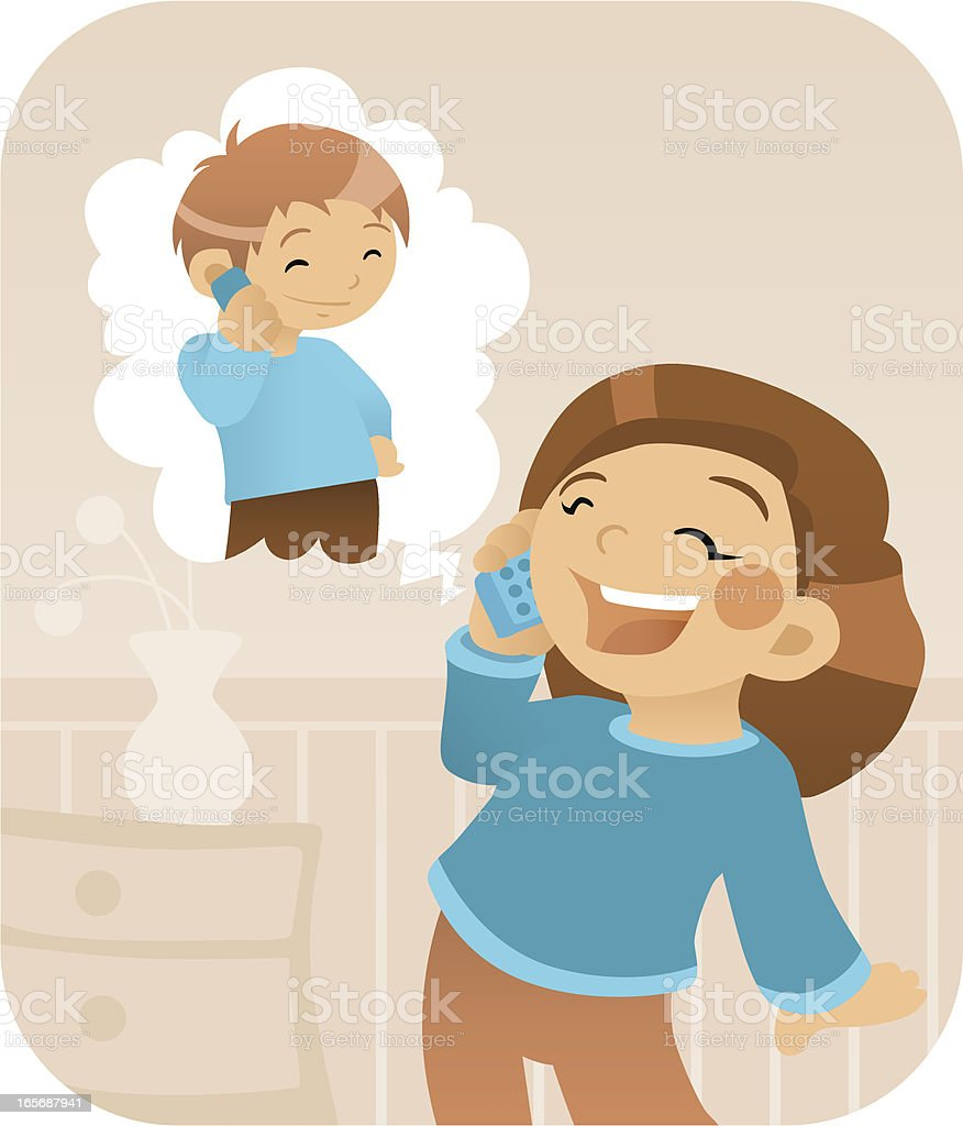 Phone Call royalty-free stock vector art