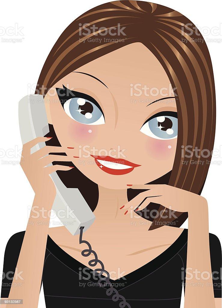 Llamada telefónica illustracion libre de derechos libre de derechos