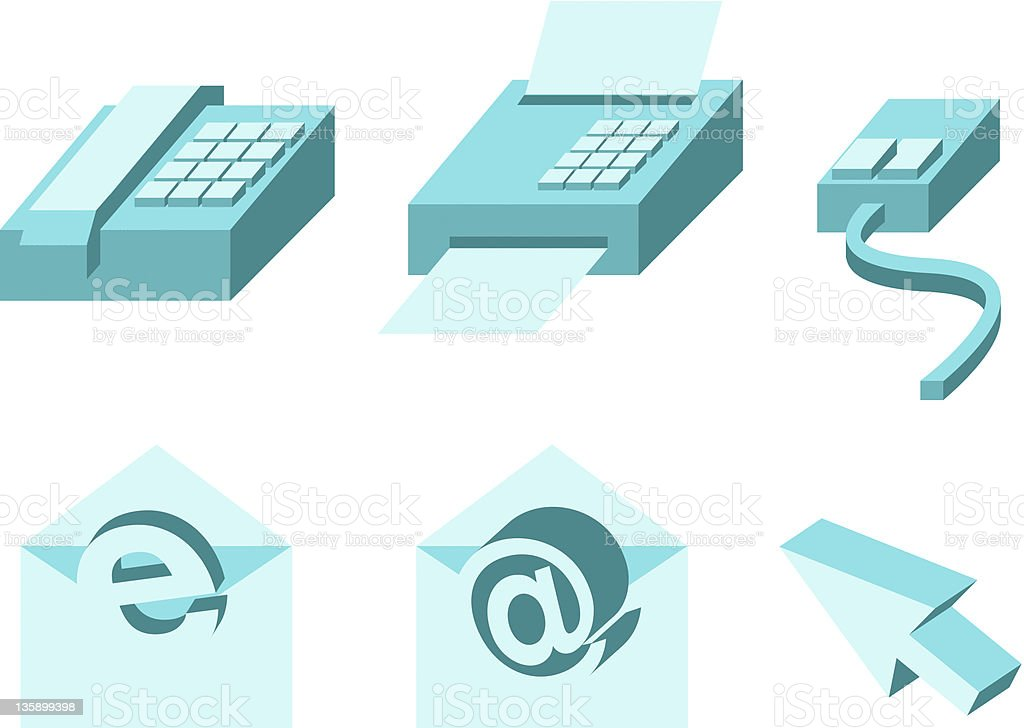 phone fax email (vector) royalty-free stock vector art
