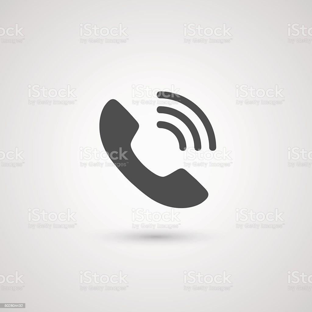 Phone handset icon vector art illustration