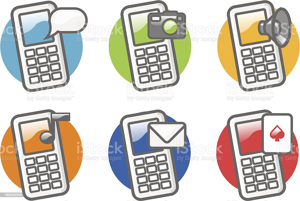 phone icons royalty-free stock vector art