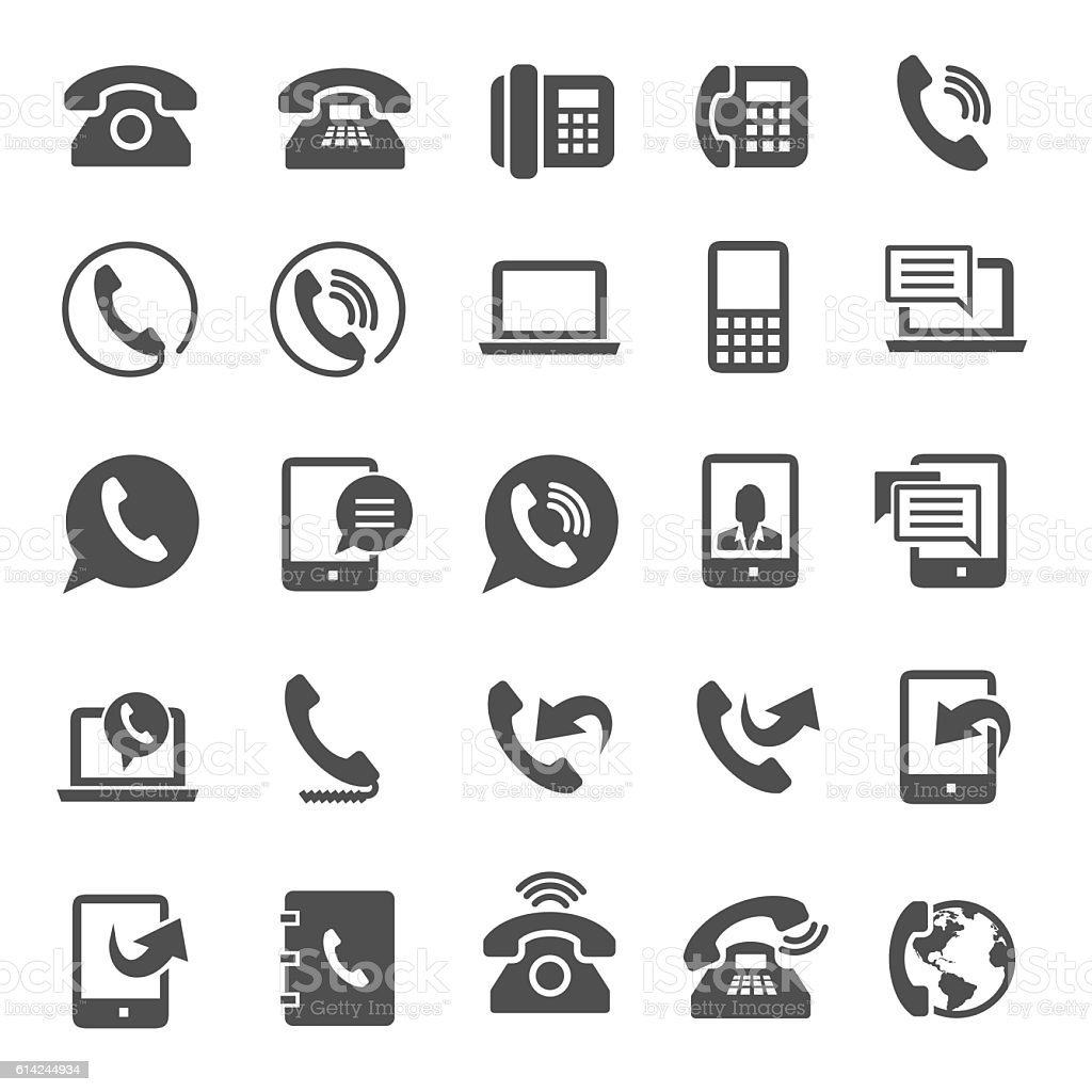 Phone icons vector art illustration