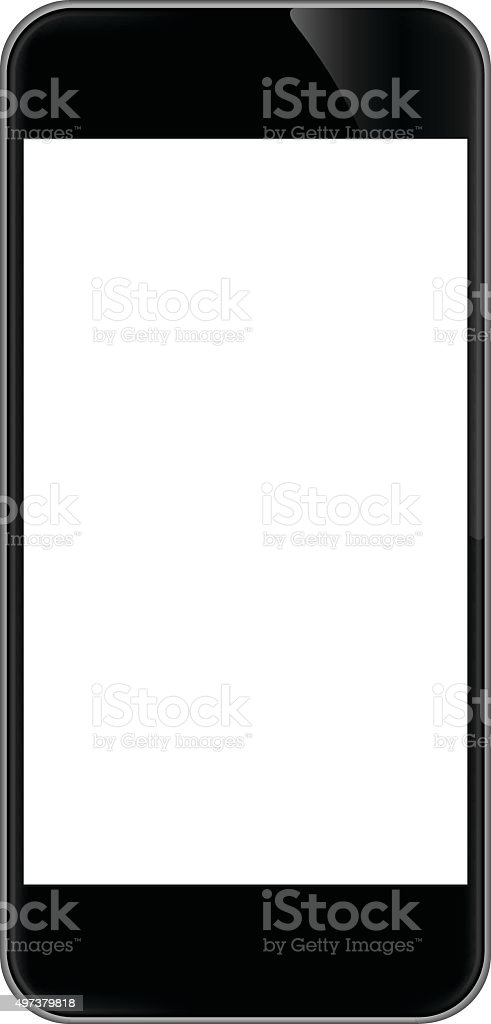 phone isolated on white vector design vector art illustration