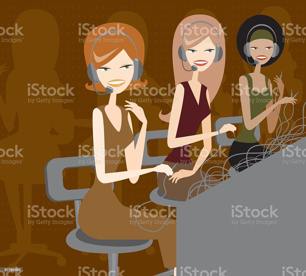 Phone Operators royalty-free stock vector art