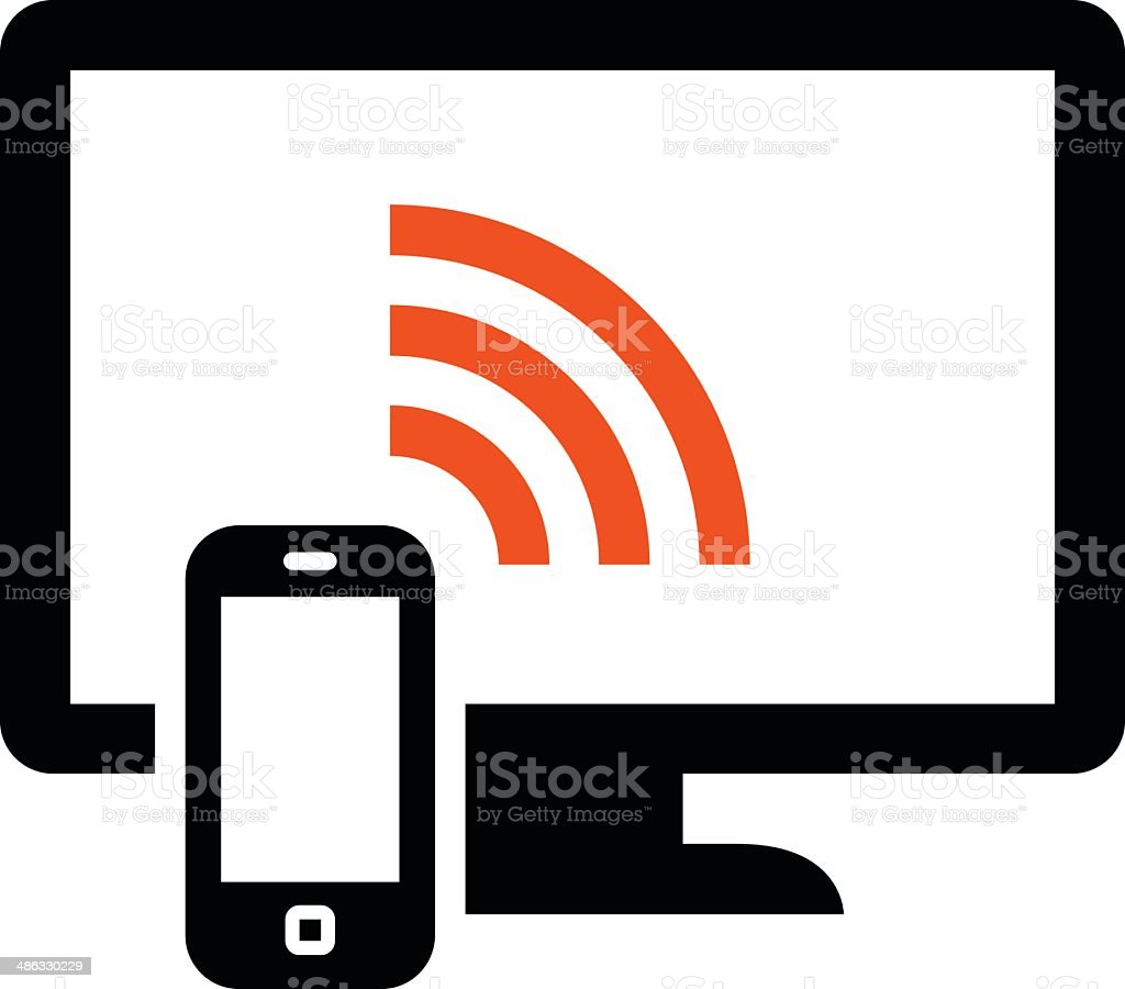 Phone remote control icon vector art illustration