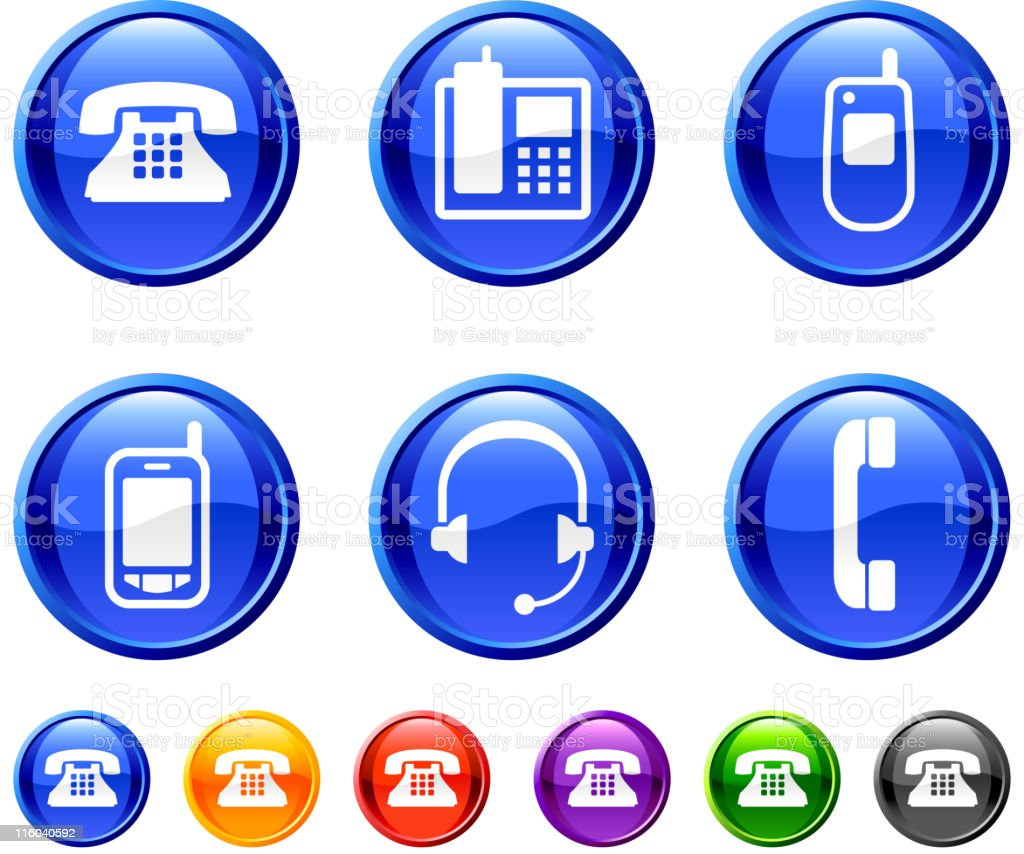 phone royalty free vector icon set in 36 colors royalty-free stock vector art