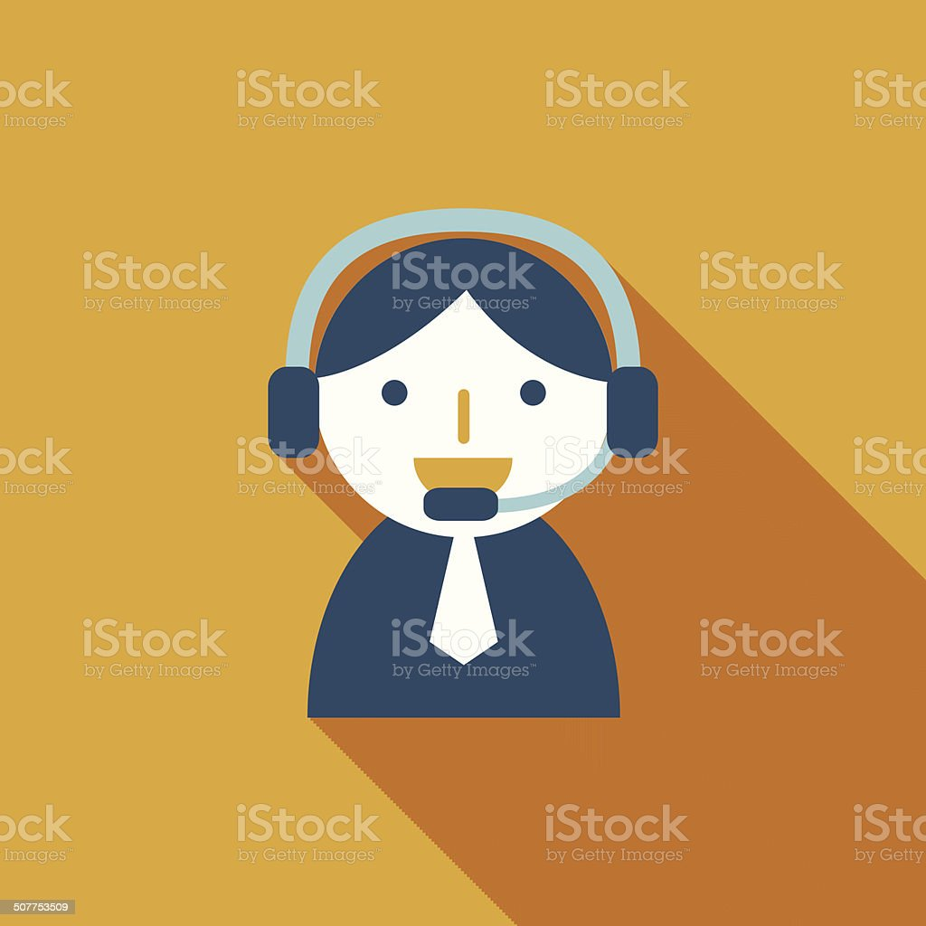 phone service flat icon with long shadow royalty-free stock vector art