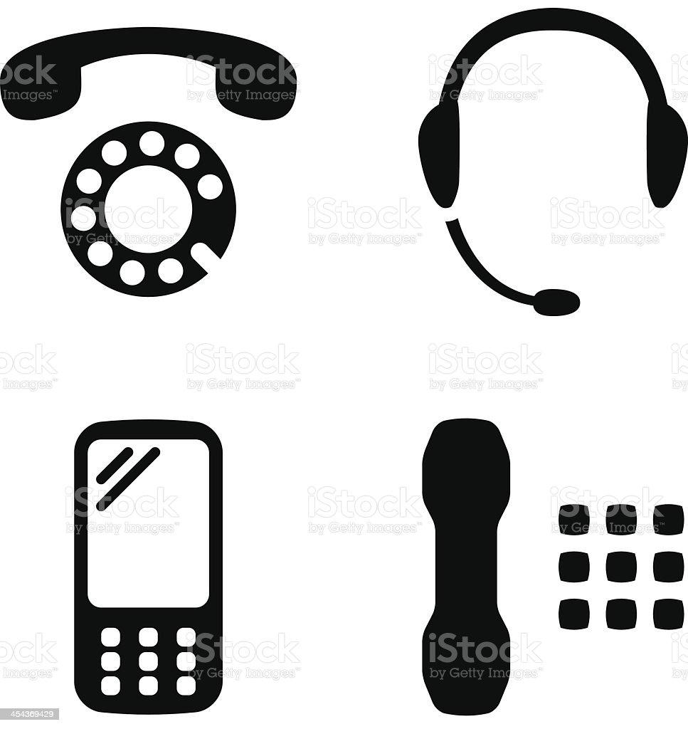 Phone set vector art illustration