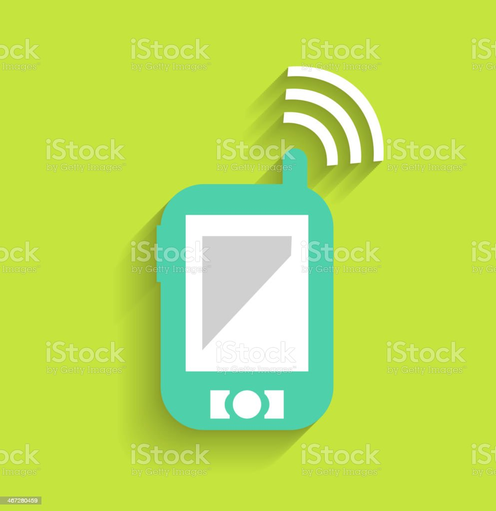 Phone / tablet communication icon royalty-free stock vector art