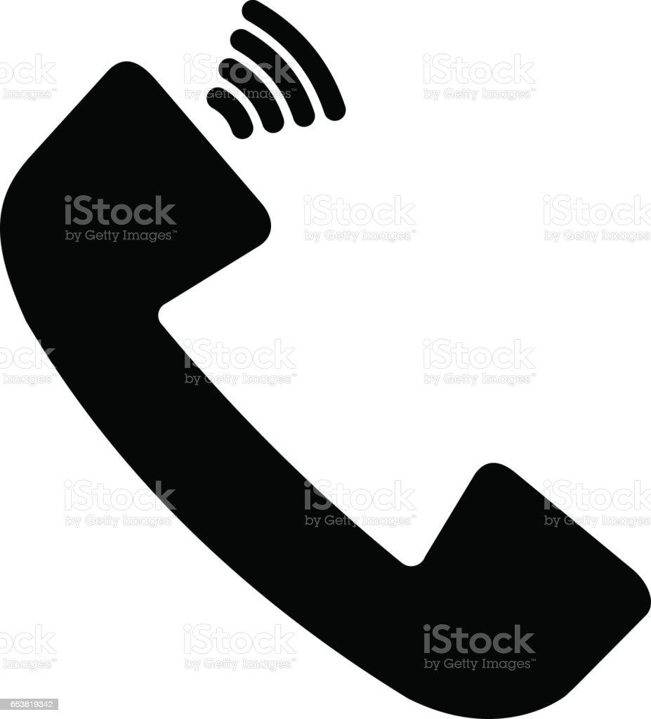 Phone vector icon vector art illustration